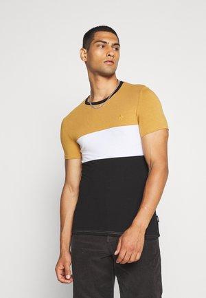 T-shirt print - beige/black