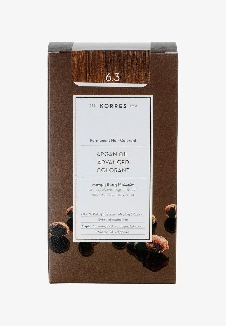 Korres - ARGAN OIL ADVANCED COLORANT - Hair colour - 6.3 golden/ honey dark blonde