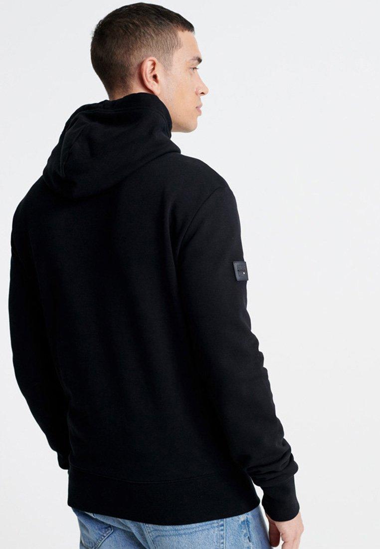 Superdry Surplus Goods Graphic Loopback - Bluza Z Kapturem Black