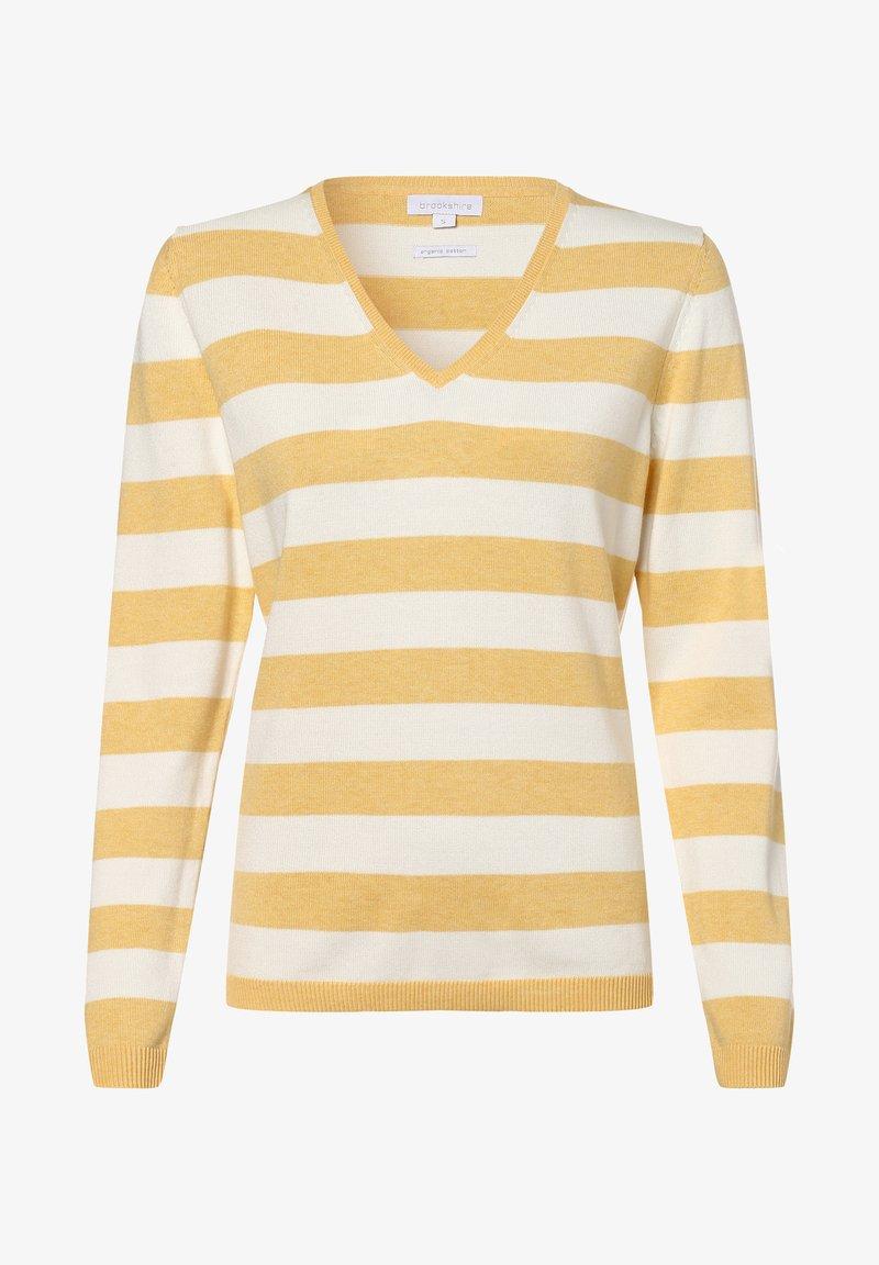 brookshire - Jumper - gelb weiß