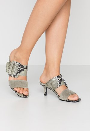 MISSY - Heeled mules - shilf