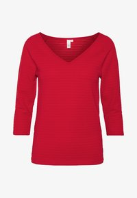 Q/S designed by - Long sleeved top - flame red - 4