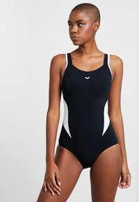 Arena - MAKIMURAX LOW CUP - Swimsuit - black/white - 0