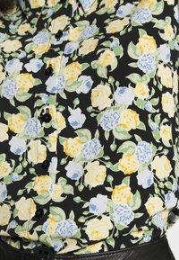 Monki - NALA BLOUSE - Button-down blouse - black dark unique - 5