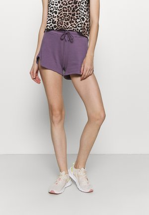 RELAXED FIT HIGH WAIST - Sports shorts - purple