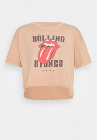 American Eagle - LOW CROP TEE ROLLING STONES - Print T-shirt - rose - 4