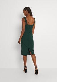 WAL G. - SAKINA WRAP MIDI DRESS - Jersey dress - forest green - 2