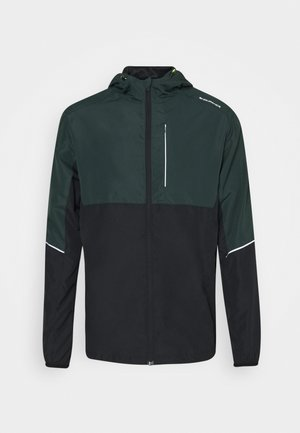 THOROW RUNNING JACKET WITH HOOD - Sports jacket - deep forest