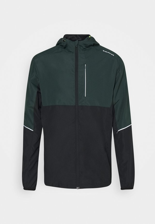 THOROW RUNNING JACKET WITH HOOD - Giacca da corsa - deep forest