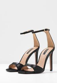 Topshop - SILVY SKINNY PART - Sandály na vysokém podpatku - black - 4