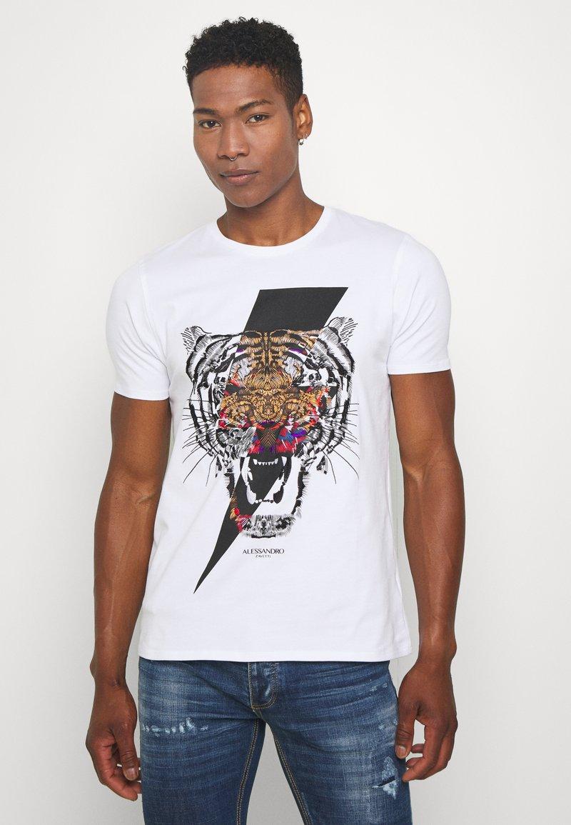 Alessandro Zavetti - GROWLER - Print T-shirt - white