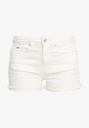 Denim shorts - powder white