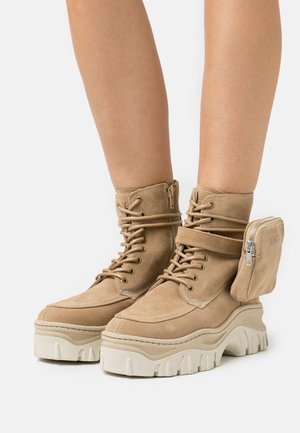JAXSTAR - Lace-up ankle boots - cappuccino