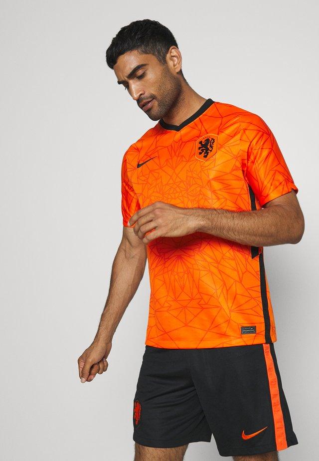 NIEDERLANDE KNVB HOME - Article de supporter - safety orange/black