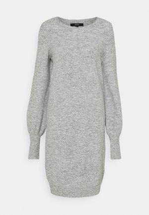 VMSIMONE O NECK DRESS - Jumper dress - light grey melange