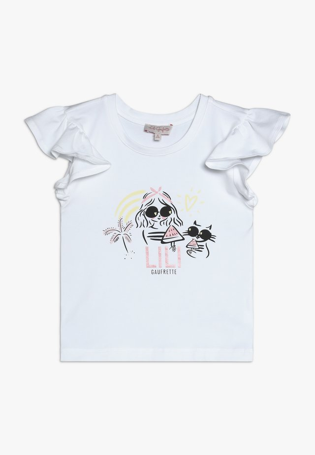 GOODNESS - T-shirt med print - blanc