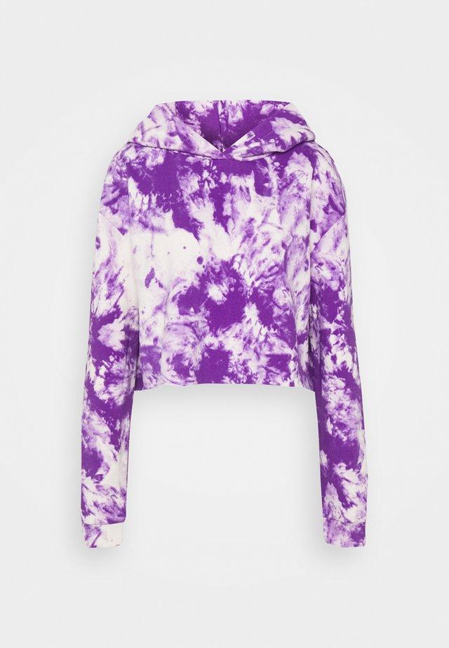 CLASSIC HOODIE - Felpa con cappuccio - white/purple