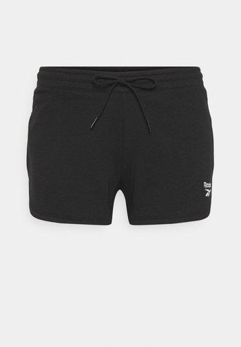 FRENCH TERRY SHORT - Pantalón corto de deporte - black
