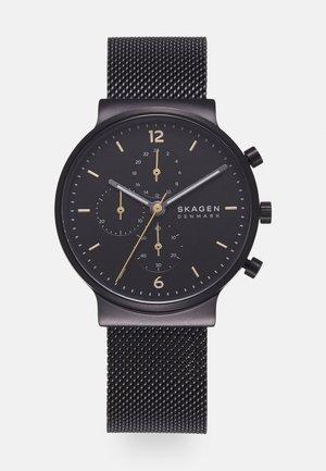 ANCHER UNISEX - Zegarek chronograficzny - black