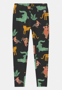 Lindex - MINI ANIMAL UNISEX - Leggings - off black - 0