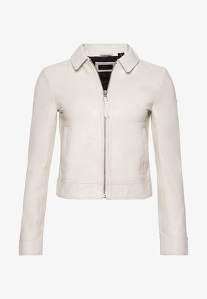 Leather jacket - off white