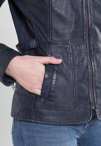 7eleven - SISSY - Leather jacket - navy - 4