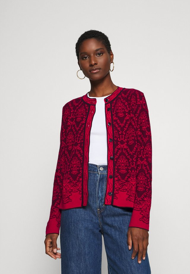 STRUCTURE PATTERN - Strikjakke /Cardigans - red