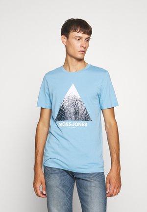 Print T-shirt - dusk blue