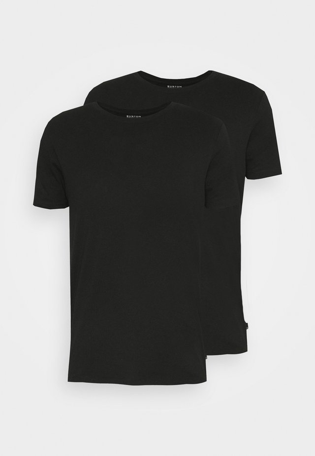 CREW 2 PACK - T-shirt basic - black