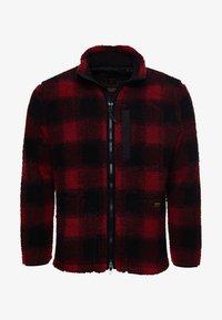 Superdry - WORKWEAR - Fleece jacket - black/red - 3