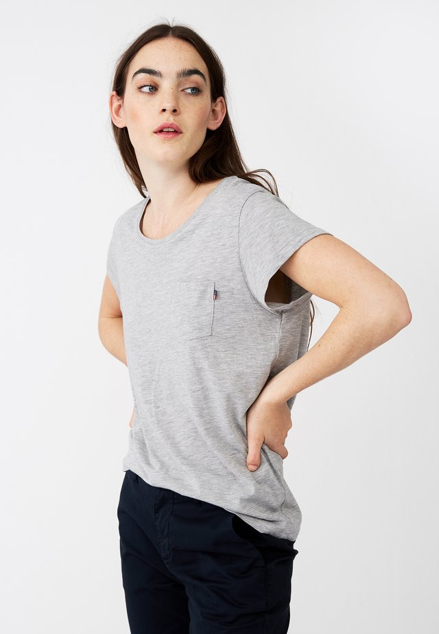 ASHLEY  - Basic T-shirt - gray melange