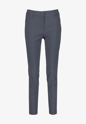 MIT MINIMALMUSTER CITYSTYLE - Trousers - dark navy/toffee/vivid blue