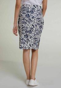 Oui - Pencil skirt - white blue - 2