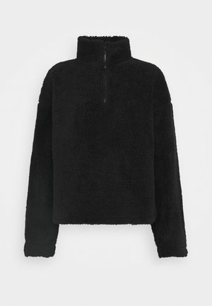 HALF ZIP - Fleecetröja - black