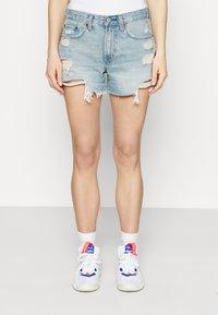 Abercrombie & Fitch - Denim shorts - blue denim - 0