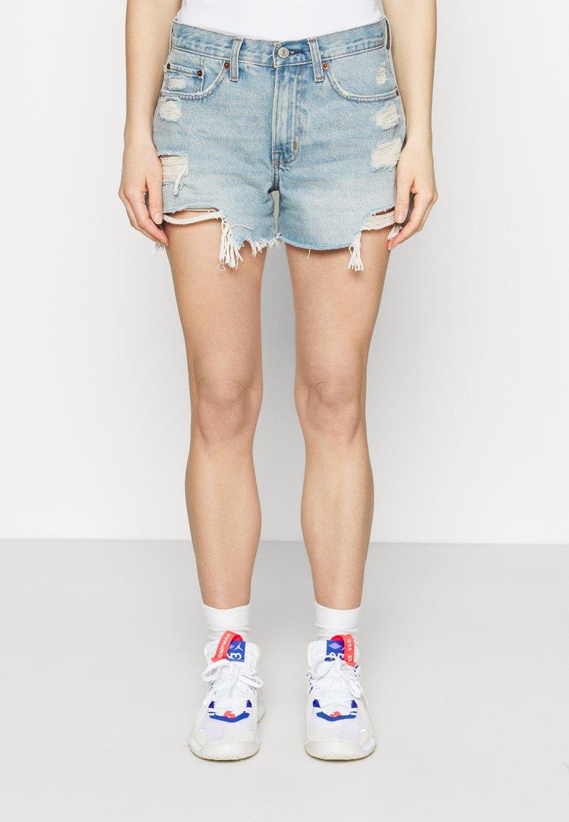 Abercrombie & Fitch - Denim shorts - blue denim
