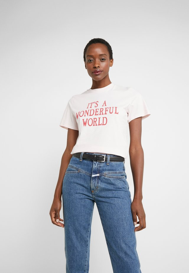 WONDERFUL - T-shirt con stampa - pink