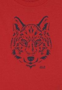 Jack Wolfskin - BRAND UNISEX - Print T-shirt - peak red - 2