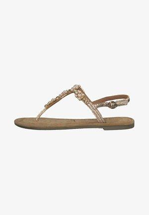 T-bar sandals - rose metallic