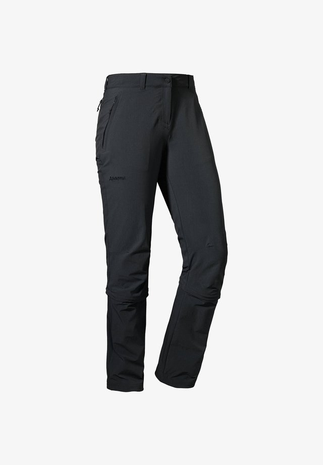"SCHÖFFEL DAMEN WANDERHOSE ""ENGADIN ZIP OFF"" - Outdoor trousers - black"