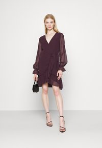 Gina Tricot - JULIANNA WRAP DRESS - Cocktail dress / Party dress - winetasting - 1