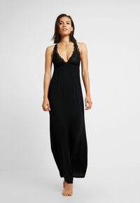 Anna Field - ANNA LONG VISCOSE DRESS  - Nightie - black - 0