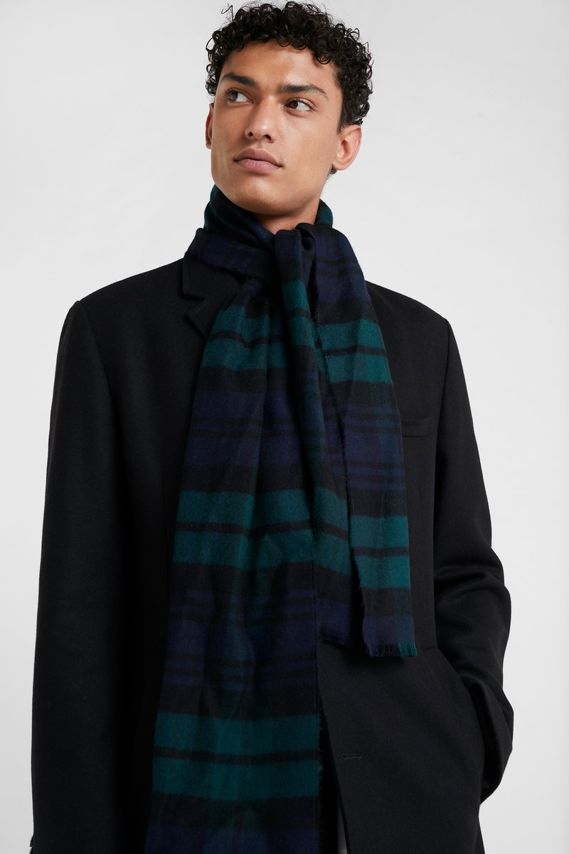 Johnstons of Elgin - TARTAN SCARF UNISEX - Schal - black watch