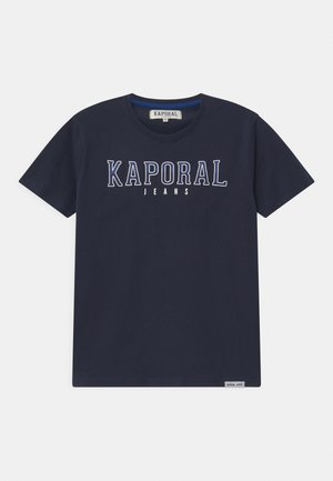 BASIC LOGO - Print T-shirt - navy