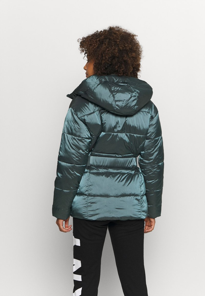 DKNY - BELTED PUFFER - Training jacket - blue