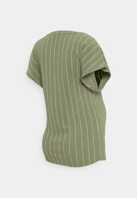 Supermom - TEE TRIPE - Print T-shirt - dusty olive - 1