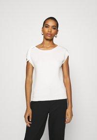 NAF NAF - MARCEAU - Print T-shirt - ecru - 0