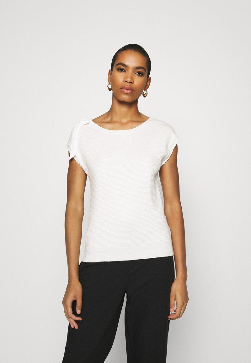 NAF NAF - MARCEAU - Print T-shirt - ecru