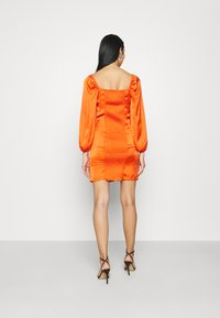 Glamorous - CARE BUTTON THROUGH MINI DRESS WITH PUFF LONG SLEEVES AND SWEETH - Cocktail dress / Party dress - rust - 2