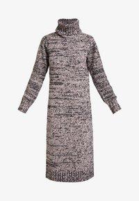 Lost Ink Petite - ROLL NECK DRESS - Strikket kjole - pink - 4